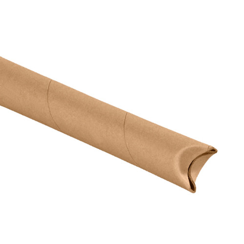 "1 1/2"" x 15"" Kraft Crimped End Mailing Storage Tubes"