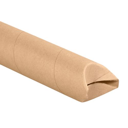 "4"" x 24"" Kraft Crimped End Mailing Storage Tubes"
