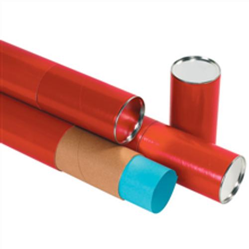 "3"" x 24"" Red  Premium Telescoping Tubes Mailing Storage Tubes"