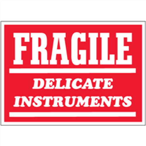 """""""Fragile - Delicate Instruments""""  Shipping and Handling Labels"""