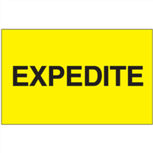 """""""Expedite"""" (Fluorescent Yellow) Shipping and Handling Labels"""