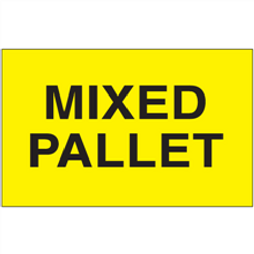 """3"""" x 5"""" - """"Mixed Pallet"""" (Fluorescent Yellow) Labels"""