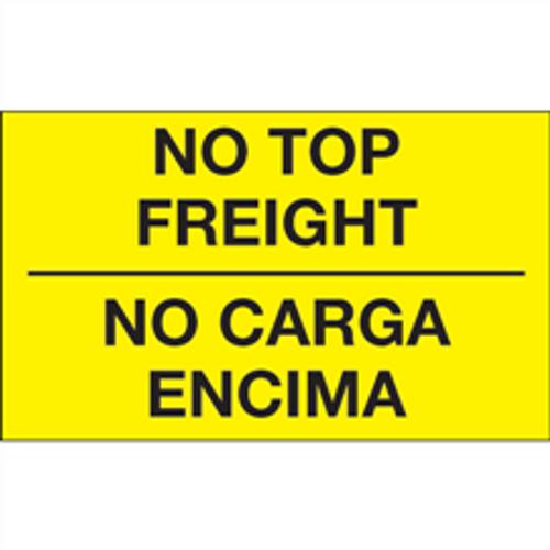 """No Carga Encima"" (Fluorescent Yellow) Bilingual Shipping and Handling Labels"