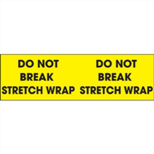 """Do Not Break Stretch Wrap""  (Fluorescent Yellow) Pallet Corner Labels"