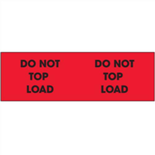 """Do Not Top Load"" (Fluorescent Red) Pallet Corner Labels"