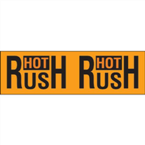 """Hot Rush"" (Fluorescent Orange) Pallet Corner Labels"