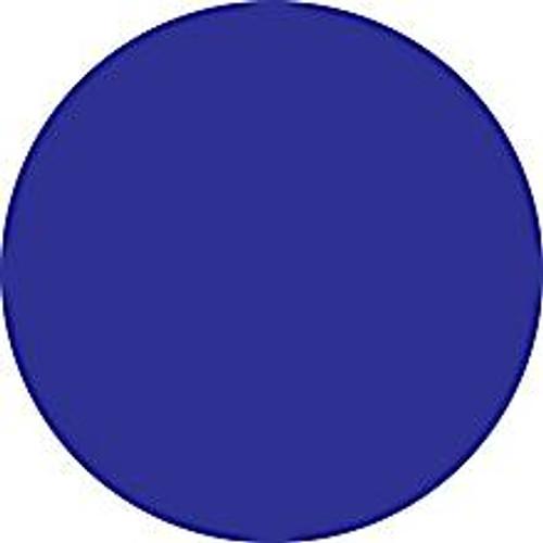 Dark Blue Circle Inventory Label - Round Inventory Stickers