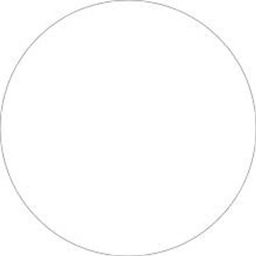 White Inventory Label - Round Inventory Stickers