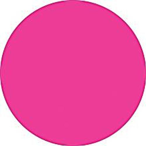 Fluorescent Pink Inventory Label - Round Inventory Stickers