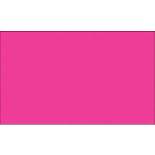 """3"""" x 10"""" Fluorescent Pink Inventory Rectangle Labels"""