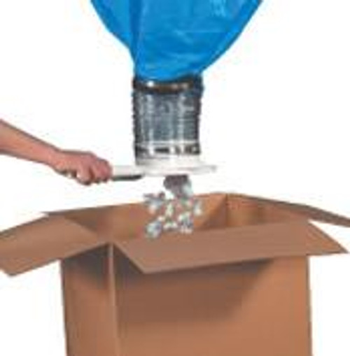 """Packing Peanut Gravity Dispenser for Loose Void Fill. 90 Cubic Feet, 40"""" x 40"""" x 129"""""""