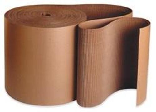 "250' x 4"" Singleface A Flute Kraft Corrugated Cardboard Roll."