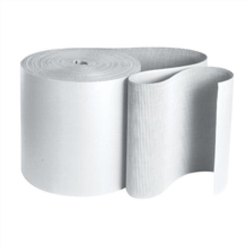 "250' x 36"" Singleface B Flute White Corrugated Cardboard Roll."