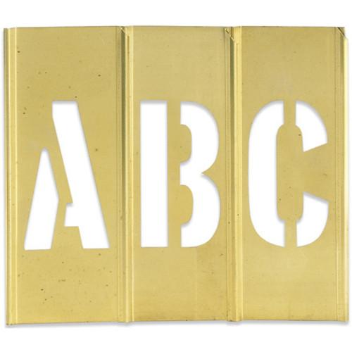 """2"""" Brass Stencil Letters 2"""" Brass Stencil Numbers, Interlocking Brass Stencils"""
