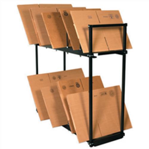 Two Tier Carton Storage Stand, Box Storage Rack