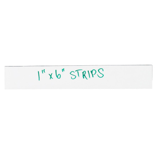 """1"""" x 4"""" White Warehouse Labels - Magnetic Strips"""