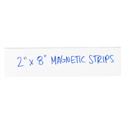 """2"""" x 8"""" White  Warehouse Labels - Magnetic Strips"""