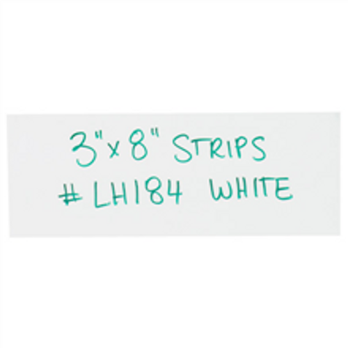"""3"""" x 8"""" White  Warehouse Labels - Magnetic Strips"""
