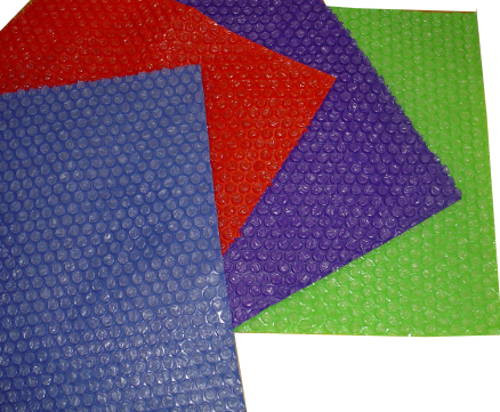 5ft Roll Blue, Red, Purple, or Clear Bubble Wrap®.