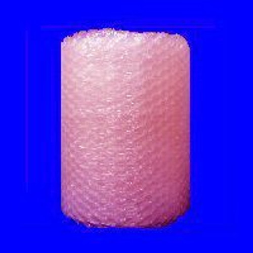 """1/2"""" Large Anti-Static Pink Bubble Wrap® Perforated every 12""""."""