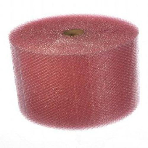 """3/16"""" Small Anti-Static Pink Bubble Cushioning Wrap Perforated every 12""""."""