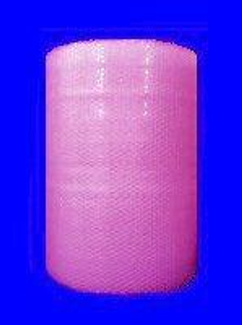 """3/16"""" Small Anti-Static Pink Bubble Wrap® Perforated every 12""""."""