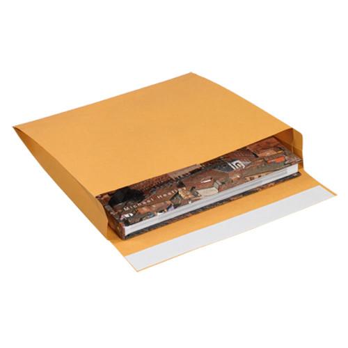 "10"" x 15"" x 2"" Kraft Expandable Self-Seal Envelopes"