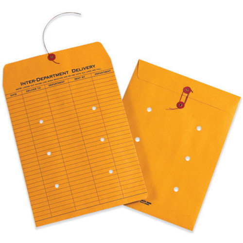 """9"""" x 12"""" Kraft Inter-Department String and Button Envelopes"""