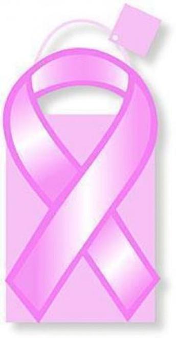 Pink Ribbon Die-Cut Gift Bag Tote