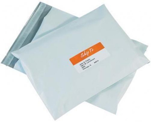"""7 1/2"""" x 10 1/2"""" Poly Courier Mailers White Flat Self Seal Envelopes #1"""