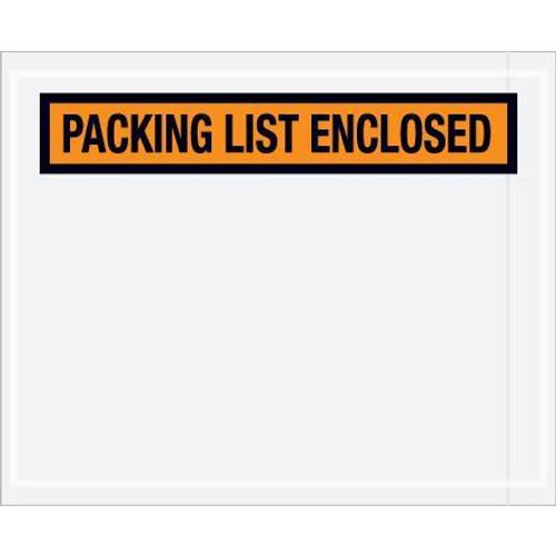 Packing List Enclosed Orange Invoice Envelopes