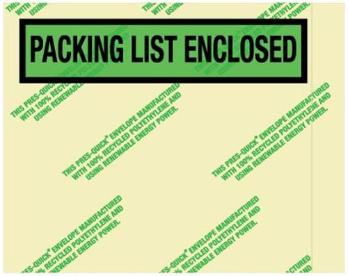"4 1/2"" x 5 1/2"" Environmental Packing List Enclosed Envelopes"