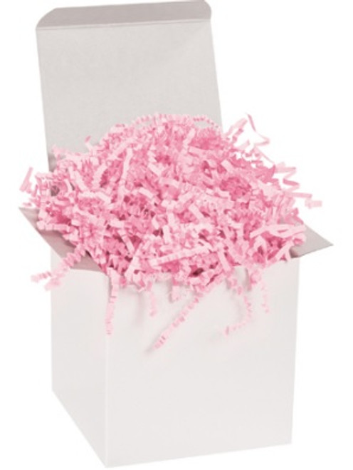 Crinkle Cut Light Pink Void Fill Paper Shred
