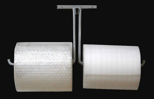 """12"""" Double Arm Wall Rack for Packaging Material Rolls"""