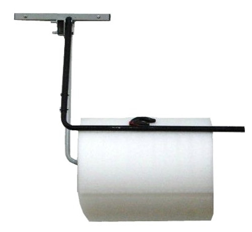 """24"""" Single Arm Wall Rack with Slide Cutter for Packaging Material Rolls"""