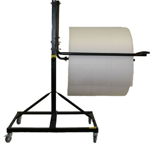 """36"""" Telescoping Single-Arm Floor Unit with Brake-System, Slide-Cutter, & Locking Casters"""