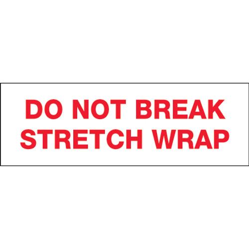 "Pre-Printed Carton Sealing Tape ""Do Not Break Stretch Wrap"""