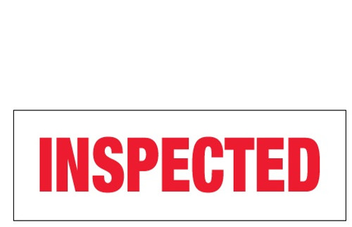 """Inspected"" Pre-Printed Carton Sealing Tape"