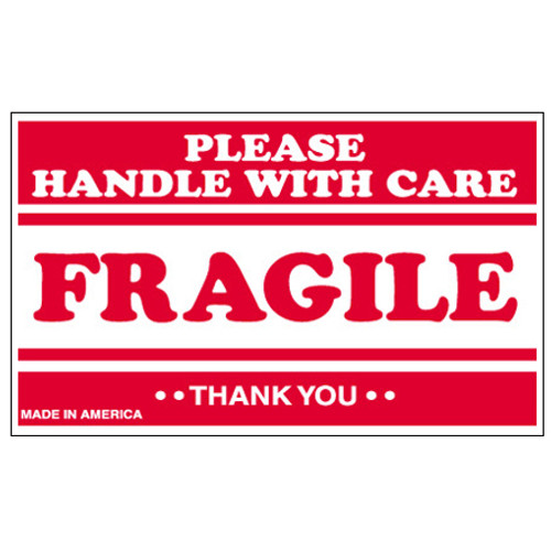 """""""Fragile - Please Handle With Care"""" Shipping and Handling Labels"""