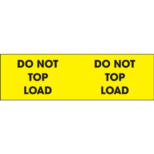 """""""Do Not Top Load"""" (Fluorescent Yellow) Labels"""