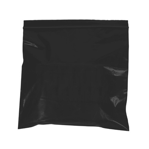 2 Mil Black Reclosable Poly Bags