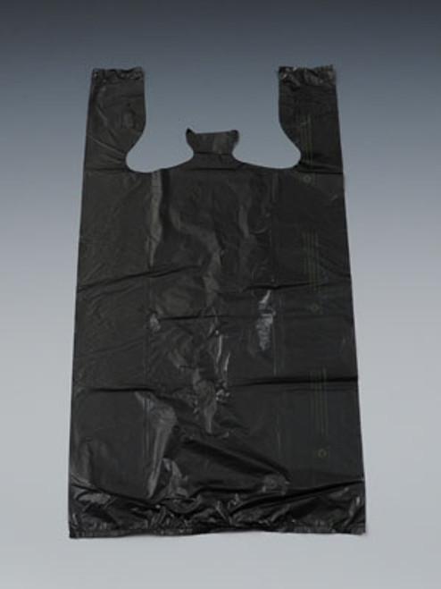 """12"""" x 6"""" x 23"""" Black High Density T-Shirt / Merchandise Bags .65 mil"""