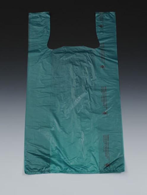 "12"" x 6"" x 23"" Dark Green High Density T-Shirt / Merchandise Bags .65 mil"