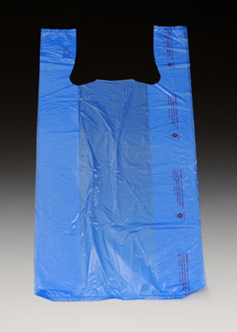 "12"" x 6"" x 23"" Blue High Density T-Shirt / Merchandise Bags .65 mil"