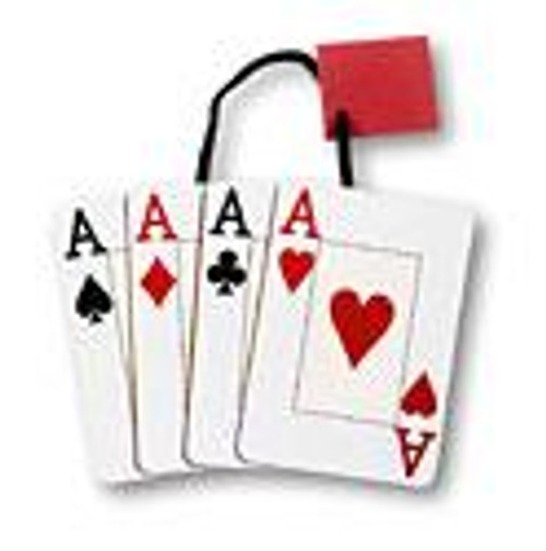 """6"""" x 7"""" x 3 3/8"""" Aces Small Die Cut Gift Bag"""