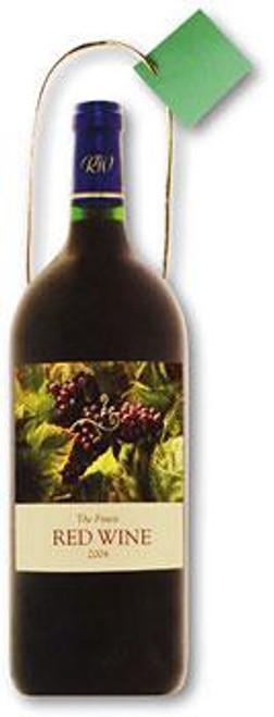 Red Wine Medium Die Cut Gift Bag