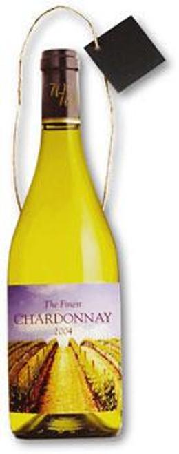 White Wine Medium Die Cut Gift Bag