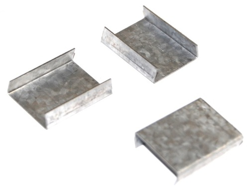 "3/4"" Snap-On Open Standard Duty Steel Strapping Seals"