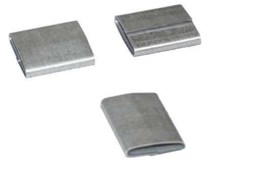 """3/4"""" Push-On Standard Duty Steel Strapping Seals"""
