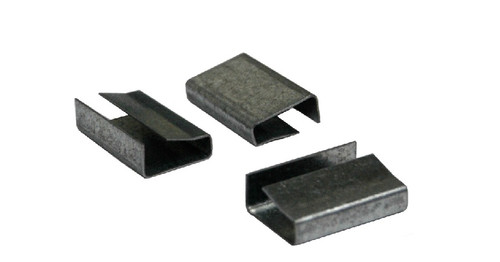 """3/4"""" Metal Snap-On Semi-Open Polypropylene Strapping Seals"""